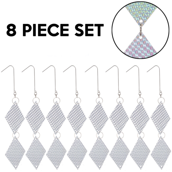 Hanging Bird Deterrent Repellent Discs - 8 Pack (FREE Delivery for x3 or more packs) 1